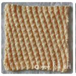 Learn-to-Knit Afghan Block Five