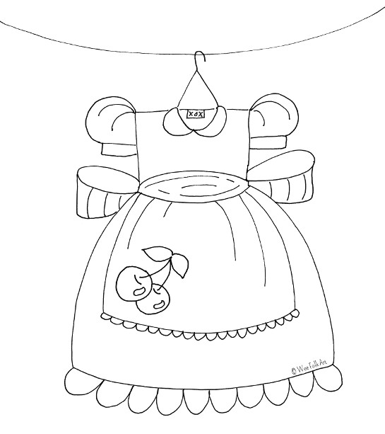 Cherry Party Dress Coloring Page