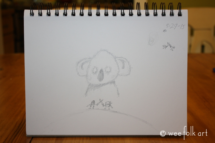 Drawing Lesson 8 Cool Koalas Wee Folk Art