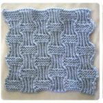 Learn-to-Knit Afghan Block Seven