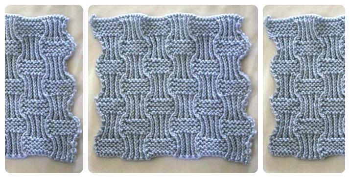 knit garter rib pattern