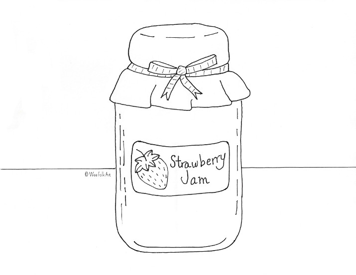 Strawberry Jam Coloring Page