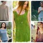 Summer Tank Top Knitting Patterns