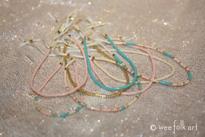glass bead morse code bracelets
