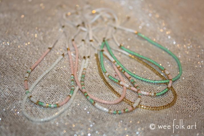 glass bead morse code bracelet
