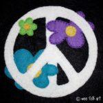 Peace Sign Applique Block