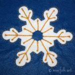 Snowflake Applique Block