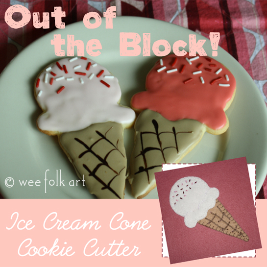 Out of the Block | Ice Cream Cone Cookie Cutter