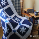 Stenciled Snowflake Quilt Pattern