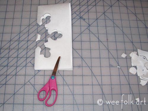 Freezer Paper Snowflake Stencil  Wee Folk Art