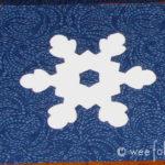 Freezer Paper Snowflake Stencil