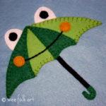 Froggy Umbrella Applique Block