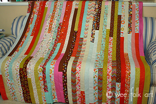 Jelly Roll Race Quilt Directions Notes Wee Folk Art
