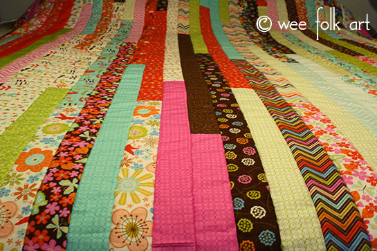 Jelly Roll Race Quilt :: Make a Quilt in an Hour?! - Wee Folk Art : jelly roll race quilt pattern - Adamdwight.com