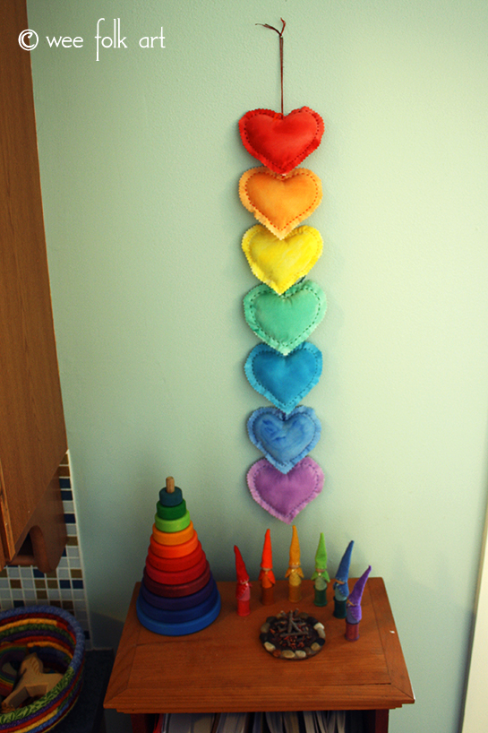 Valentine Craft Puffy Heart Ornament Wall Decoration with Gnomes