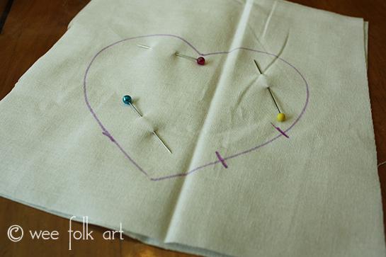 Valentine Craft Puffy Heart Ornament Pattern