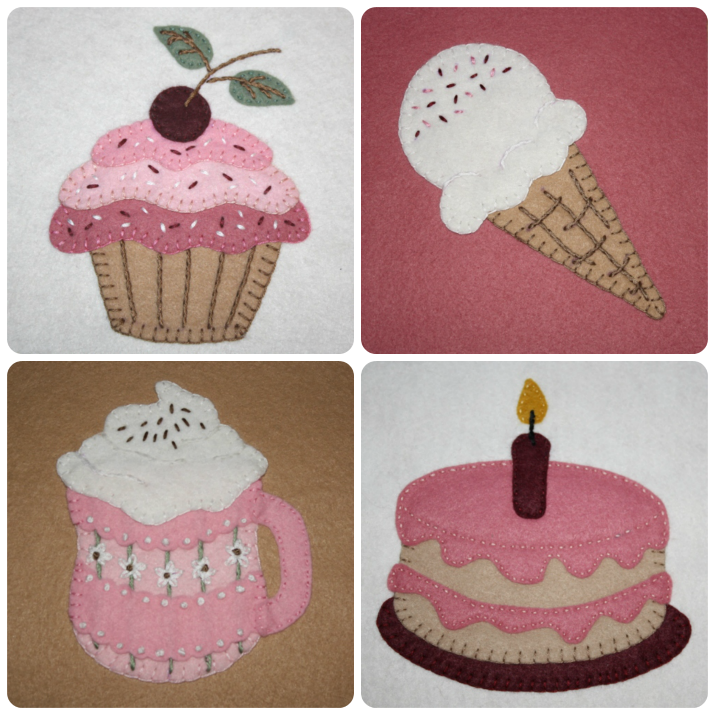 sweet treats applique pattern collection