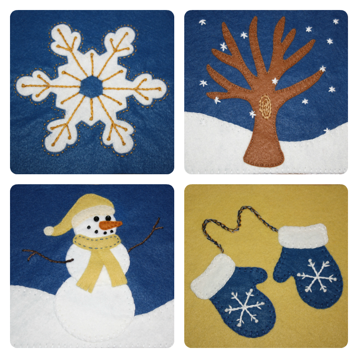 winter applique patterns