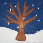 Winter Tree Applique Block