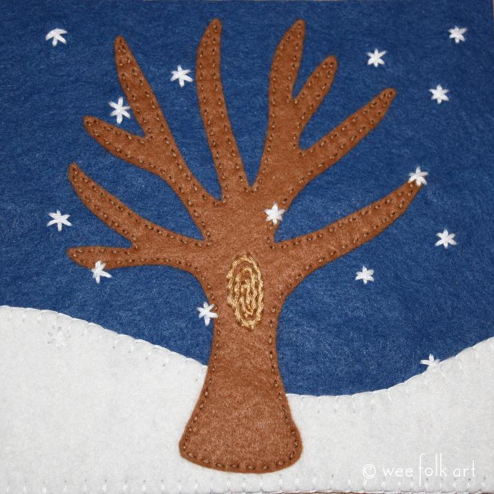 winter tree applique pattern