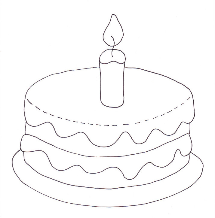 Brilliant Birthday Cake Coloring Page Wee Folk Art Personalised Birthday Cards Beptaeletsinfo
