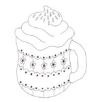 Cup of Cocoa Coloring Page