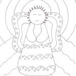 Primitive Angel Coloring Page