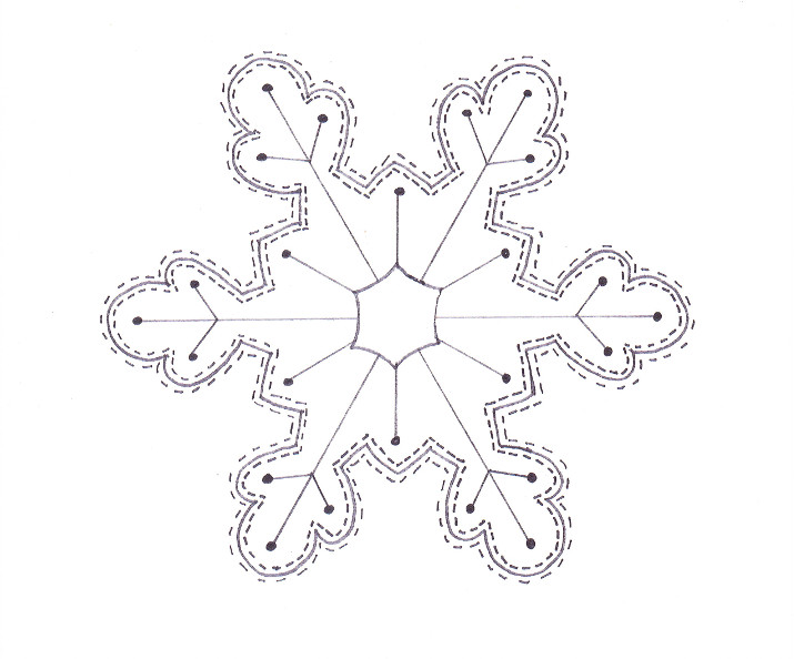 Snowflake coloring page wee folk art for Coloring pages snowflakes