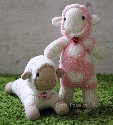 FREE Sock Animals Patterns From Craft Passion Wee Folk Art Inspiration Sock Animal Patterns
